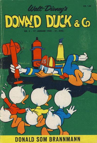 Cover for Donald Duck & Co (Hjemmet / Egmont, 1948 series) #3/1968