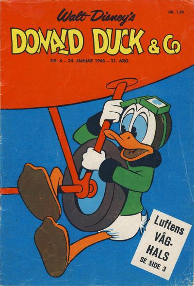Cover for Donald Duck & Co (Hjemmet / Egmont, 1948 series) #4/1968