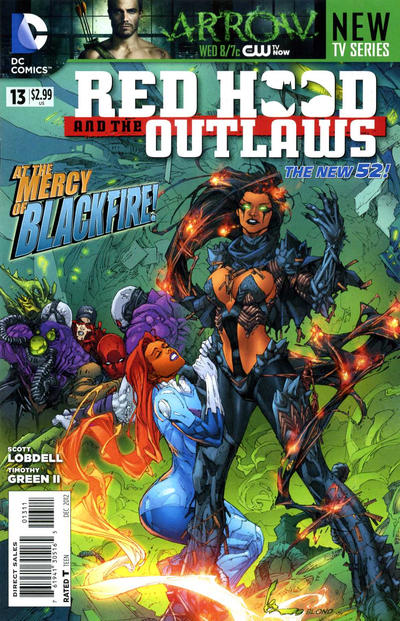 Cover for Red Hood and the Outlaws (DC, 2011 series) #13 [Second printing]