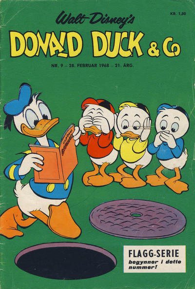 Cover for Donald Duck & Co (Hjemmet / Egmont, 1948 series) #9/1968