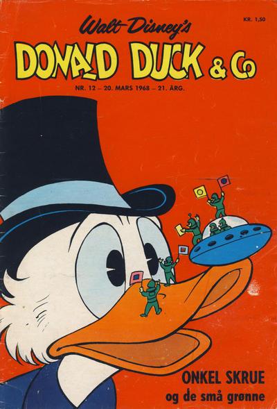 Cover for Donald Duck & Co (Hjemmet / Egmont, 1948 series) #12/1968