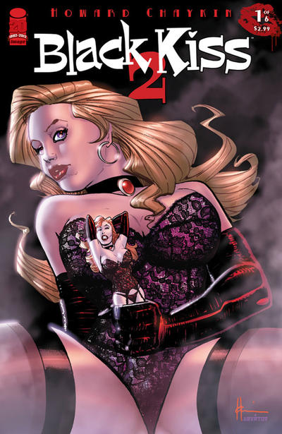 Cover for Black Kiss 2 (Image, 2012 series) #1 [2nd Printing]