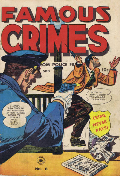 Cover for Famous Crimes (Superior Publishers Limited, 1949 series) #8