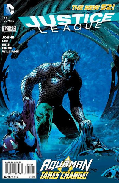Cover for Justice League (DC, 2011 series) #12 [Combo-Pack Edition Cover by Jim Lee]
