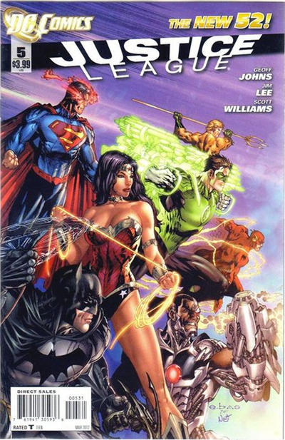 Cover for Justice League (DC, 2011 series) #5 [Jim Lee Sketch Cover]