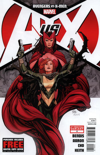 Cover for Avengers vs. X-Men (Marvel, 2012 series) #0 [3rd Printing Variant]
