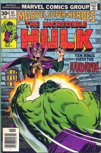 Cover Thumbnail for Marvel Super-Heroes (Marvel, 1967 series) #61