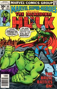 Cover Thumbnail for Marvel Super-Heroes (Marvel, 1967 series) #66