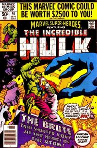 Cover for Marvel Super-Heroes (Marvel, 1967 series) #91