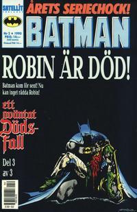 Cover Thumbnail for Batman (SatellitFörlaget, 1989 series) #2/1990