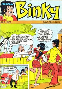 Cover Thumbnail for Binky (Semic, 1976 series) #1/1977