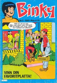 Cover Thumbnail for Binky (Semic, 1976 series) #5/1981
