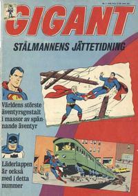 Cover Thumbnail for Gigant (Centerförlaget, 1963 series) #1/1965