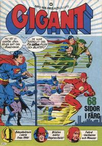 Cover Thumbnail for Gigant (Williams Förlags AB, 1969 series) #1/1976