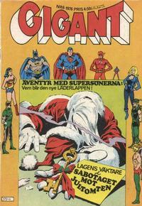 Cover Thumbnail for Gigant (Semic, 1976 series) #6/1976