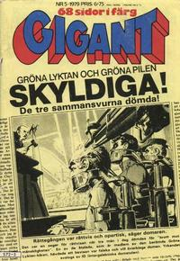 Cover for Gigant (Semic, 1976 series) #5/1979