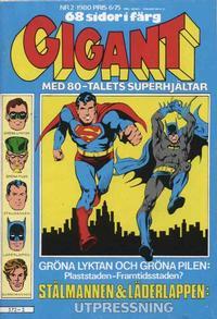 Cover Thumbnail for Gigant (Semic, 1976 series) #2/1980