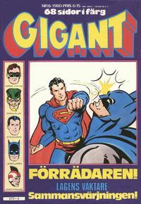 Cover Thumbnail for Gigant (Semic, 1976 series) #6/1980