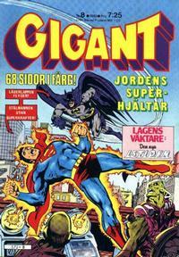 Cover Thumbnail for Gigant (Semic, 1976 series) #8/1980