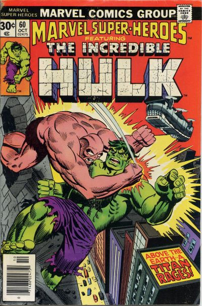Cover for Marvel Super-Heroes (Marvel, 1967 series) #60