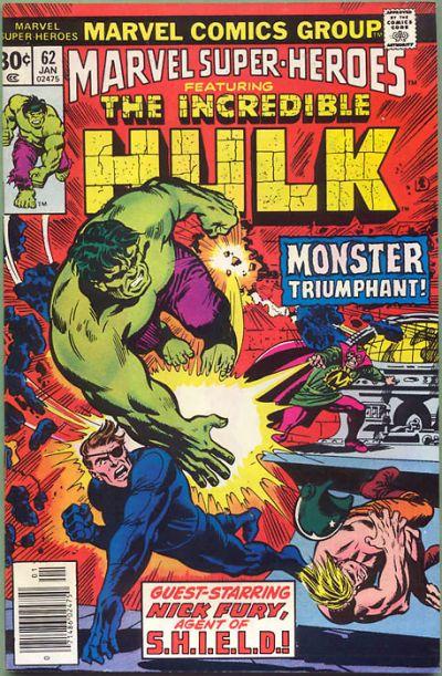 Cover for Marvel Super-Heroes (Marvel, 1967 series) #62