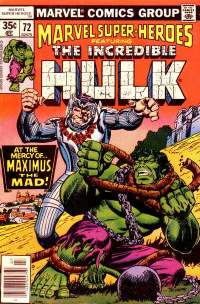 Cover for Marvel Super-Heroes (Marvel, 1967 series) #72