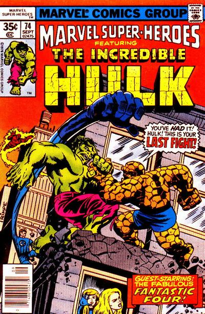 Cover for Marvel Super-Heroes (Marvel, 1967 series) #74