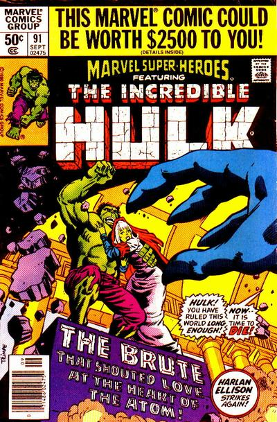 Cover for Marvel Super-Heroes (Marvel, 1967 series) #91 [Direct Edition]