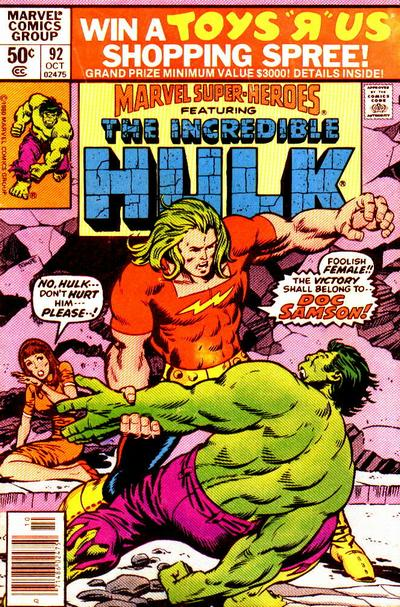 Cover for Marvel Super-Heroes (Marvel, 1967 series) #92