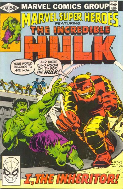 Cover for Marvel Super-Heroes (Marvel, 1967 series) #98 [Direct Edition]