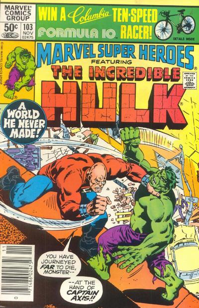 Cover for Marvel Super-Heroes (Marvel, 1967 series) #103 [Direct Edition]