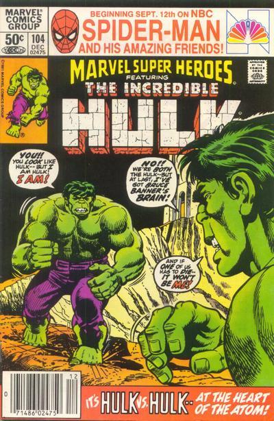 Cover for Marvel Super-Heroes (Marvel, 1967 series) #104