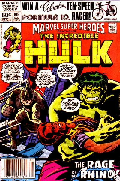 Cover for Marvel Super-Heroes (Marvel, 1967 series) #105 [Direct Edition]