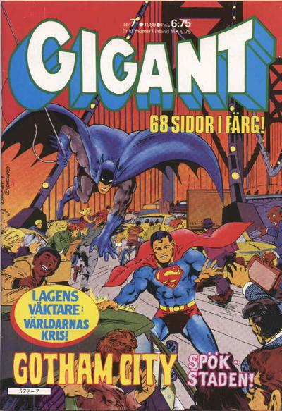 Cover for Gigant (Semic, 1976 series) #7/1980