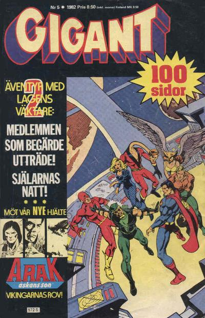 Cover for Gigant (Semic, 1976 series) #5/1982