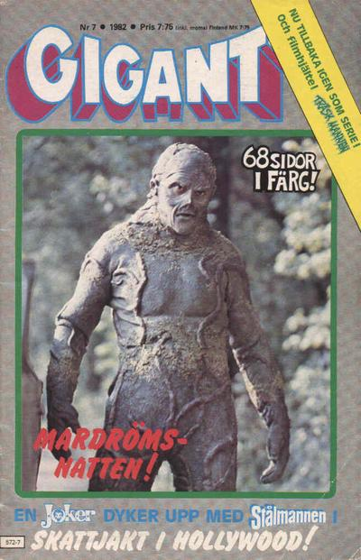 Cover for Gigant (Semic, 1976 series) #7/1982