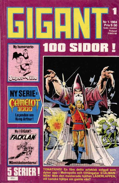 Cover for Gigant (Semic, 1976 series) #1/1984