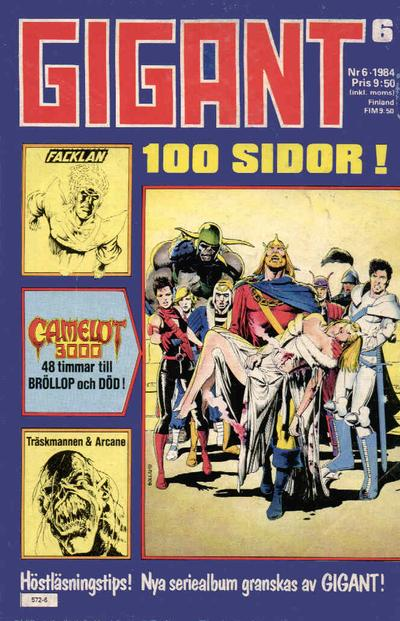 Cover for Gigant (Semic, 1976 series) #6/1984