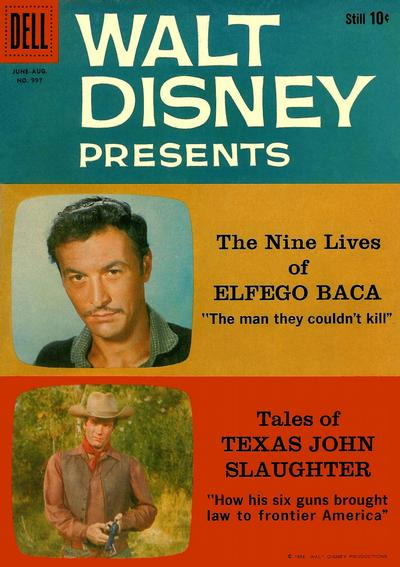 Cover for Four Color (Dell, 1942 series) #997 - Walt Disney Presents The Nine Lives of Elfego Baca