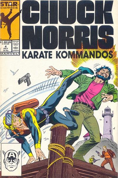 Cover for Chuck Norris (Marvel, 1987 series) #4
