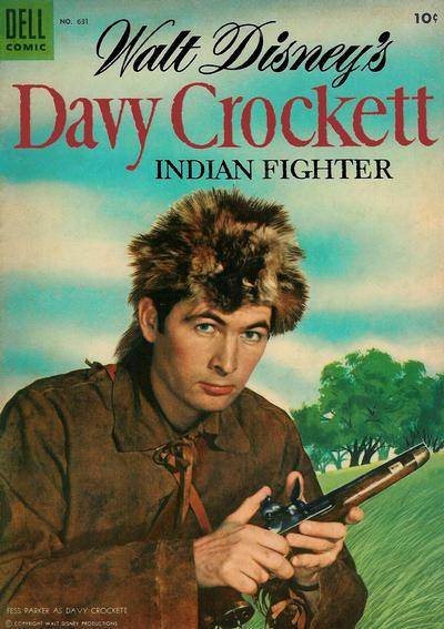 Cover for Four Color (Dell, 1942 series) #631 - Walt Disney's Davy Crockett Indian Fighter