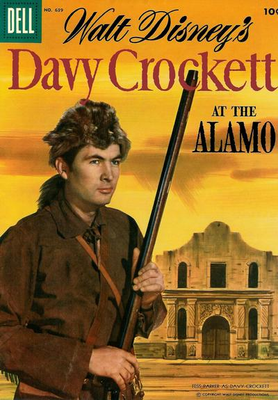 Cover for Four Color (Dell, 1942 series) #639 - Walt Disney's Davy Crockett at the Alamo
