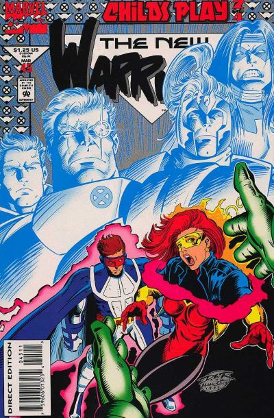 Cover for The New Warriors (Marvel, 1990 series) #45 [Newsstand]