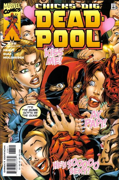 Cover for Deadpool (Marvel, 1997 series) #38 [Direct Edition]
