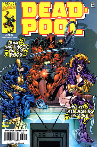 Cover for Deadpool (Marvel, 1997 series) #39 [Direct Edition]
