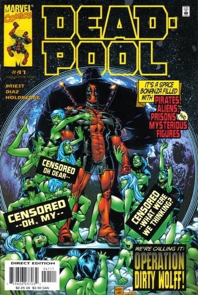 Cover for Deadpool (Marvel, 1997 series) #41 [Direct Edition]