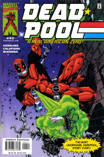 Cover for Deadpool (Marvel, 1997 series) #42 [Direct Edition]