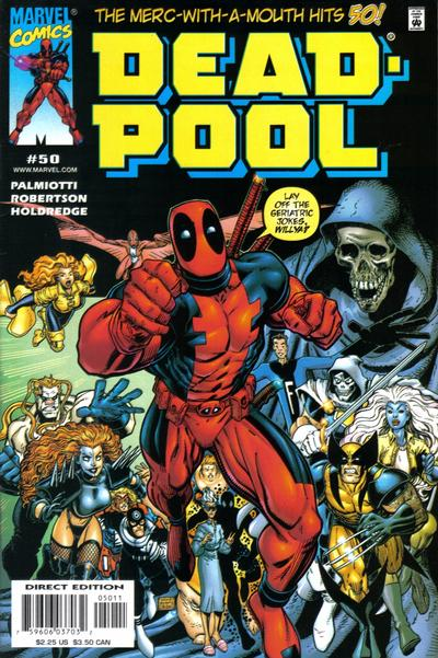 Cover for Deadpool (Marvel, 1997 series) #50 [Direct Edition]