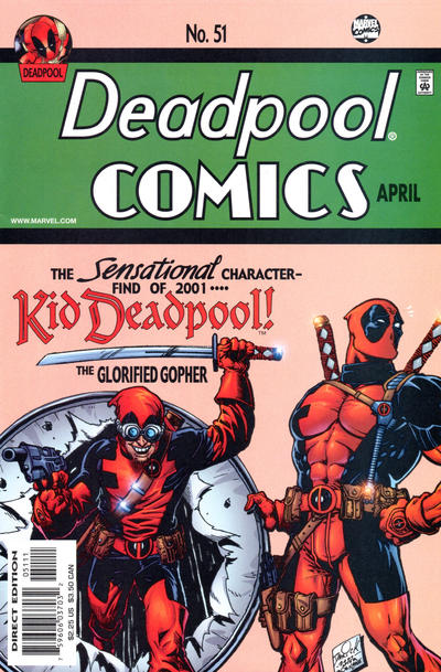 Cover for Deadpool (Marvel, 1997 series) #51 [Direct Edition]