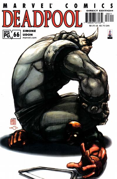 Cover for Deadpool (Marvel, 1997 series) #66 [Direct Edition]